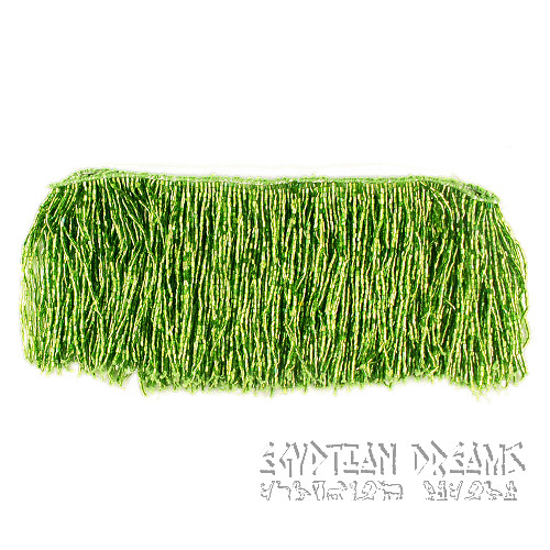 Green Beaded Fringing (Long)