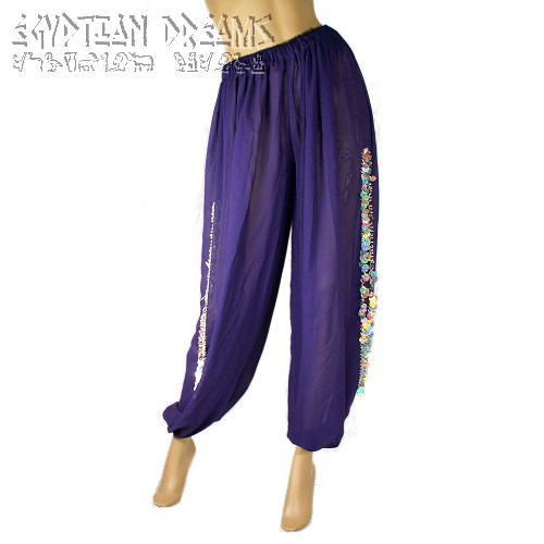 Harem Pants (Purple and Silver)