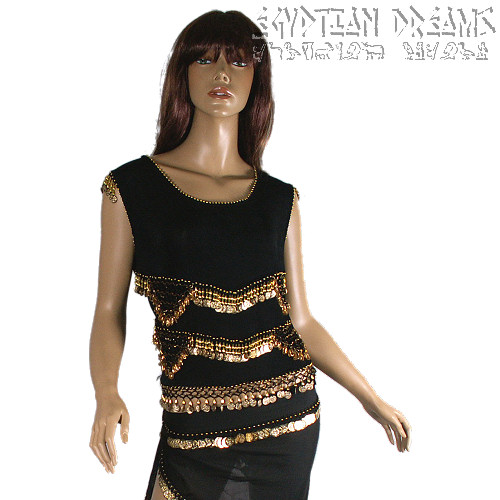 Stretch Top (Black and Gold)