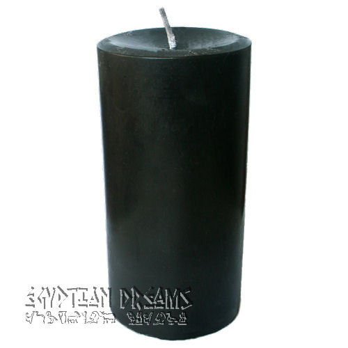 Black Pillar Candle (Round)
