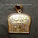 18k gold Isis pendant. This wonderful Isis pendant is hand made in Egypt from 18 carat gold.