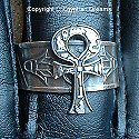 Egyptian silver Ankh ring. Hand made in Egypt.