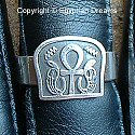 Egyptian silver Ankh with Serpents ring. Hand made in Egypt.