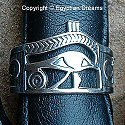 Egyptian silver Eye of Horus ring. Hand made in Egypt.
