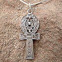 Egyptian silver ankh with hieroglyphics pendant. Hand made in Egypt.