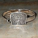 Egyptian silver Isis bracelet. Hand made in Egypt.