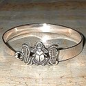 Egyptian silver scarab bracelet. Hand made in Egypt.