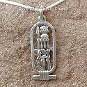 Egyptian silver cartouche of Nefertiti pendant. Hand made in Egypt.