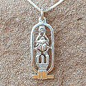 Egyptian silver cartouche of Tutankhamun pendant. Hand made in Egypt.