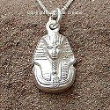 Egyptian silver Tutankhamun pendant. Hand made in Egypt.