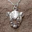 Egyptian silver Sekhmet pendant. Hand made in Egypt.