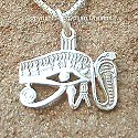 Egyptian silver Eye of Horus pendant. Hand made in Egypt.