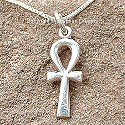 Egyptian silver Ankh pendant. Hand made in Egypt.