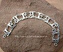 Egyptian silver ankh and lotus flower bracelet. Hand made in Egypt.