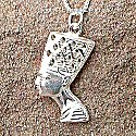 Egyptian silver Nefertiti pendant. Hand made in Egypt.