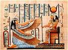 Hand Painted Papyrus of Maat and Isis