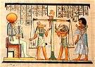 Hand Painted Papyrus of the Weighing of the heart ceremony