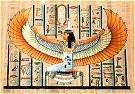 Hand Painted Papyrus of Winged Maat