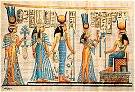 Hand Painted Papyrus of Egyptian Goddesses