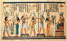 Hand Painted Papyrus of Gods and Goddesses