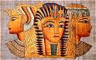 Hand Painted Papyrus of Egyptian Queens