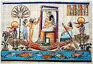 Hand Painted Papyrus of Queen Hatshepsut