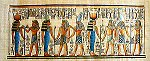 Hand Painted Papyrus of Gods, Goddesses and Kings