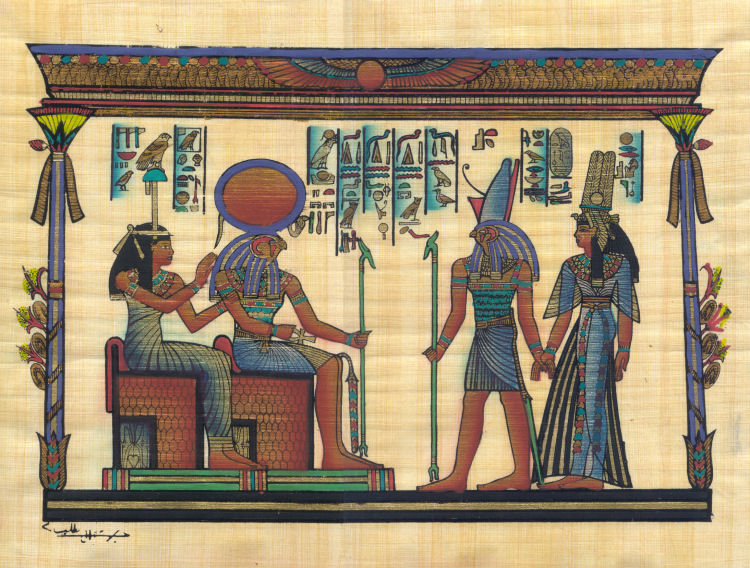 Amentet, Re-Horakhty, Horus and Nefertari - 40cm x 30cm