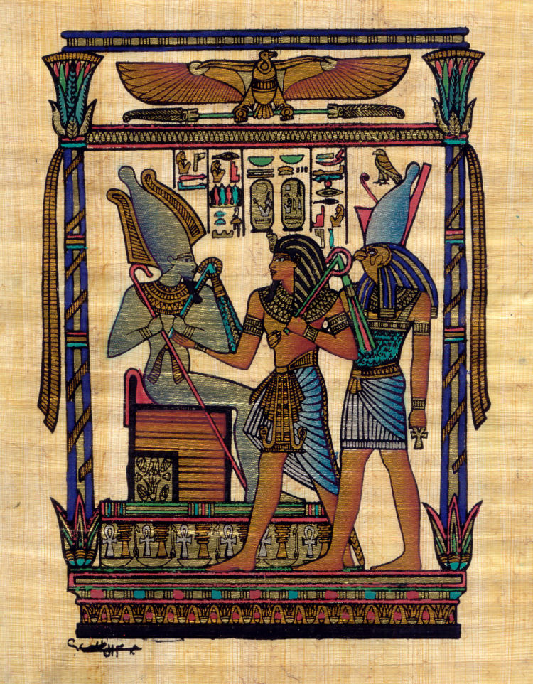 Seti, Osiris and Horus - 60cm x 40cm